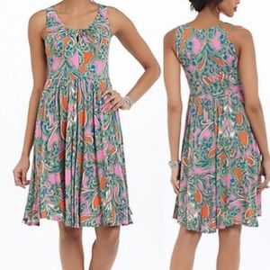 Anthropologie Lilka Paisley Seaglass Pink Dress